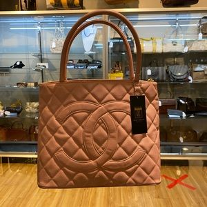 Chanel Pink Quilted Caviar Medallion Bag!!